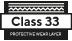 Classe 33 camada protetora